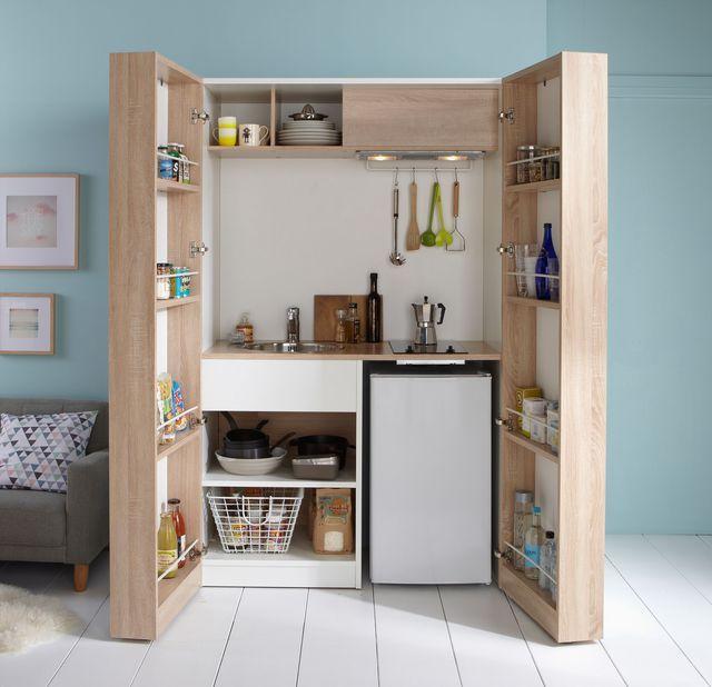 rangement gain de place 15 id es pour la cuisine la chambre vitroceramique armoire. Black Bedroom Furniture Sets. Home Design Ideas