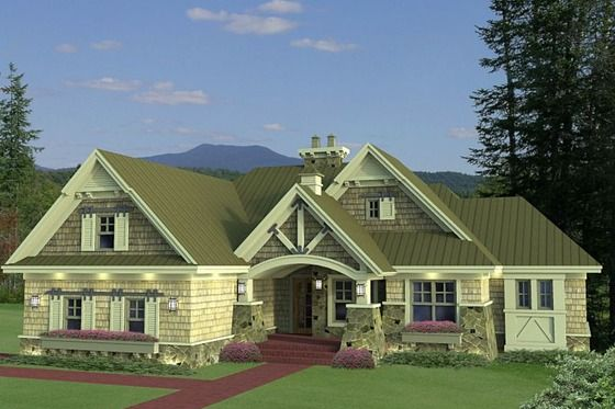 Craftsman Style House Plan 3 Beds 2 5 Baths 1971 Sq Ft Plan 51 552 Craftsman House Plans Family House Plans Craftsman House