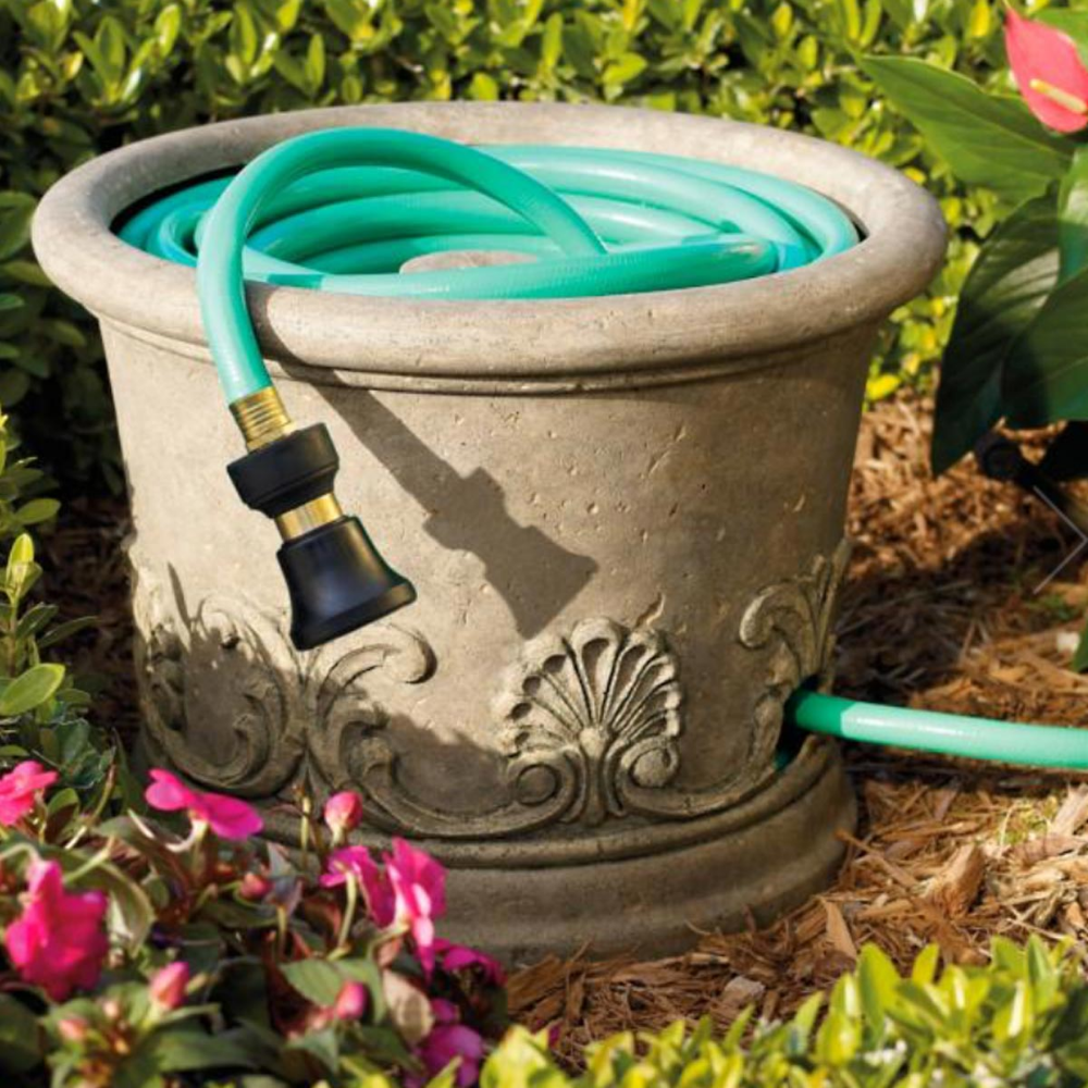 Save Deck Space With These 10 Patio Storage Ideas Garden Hose Holder Hose Storage Garden Hose Storage