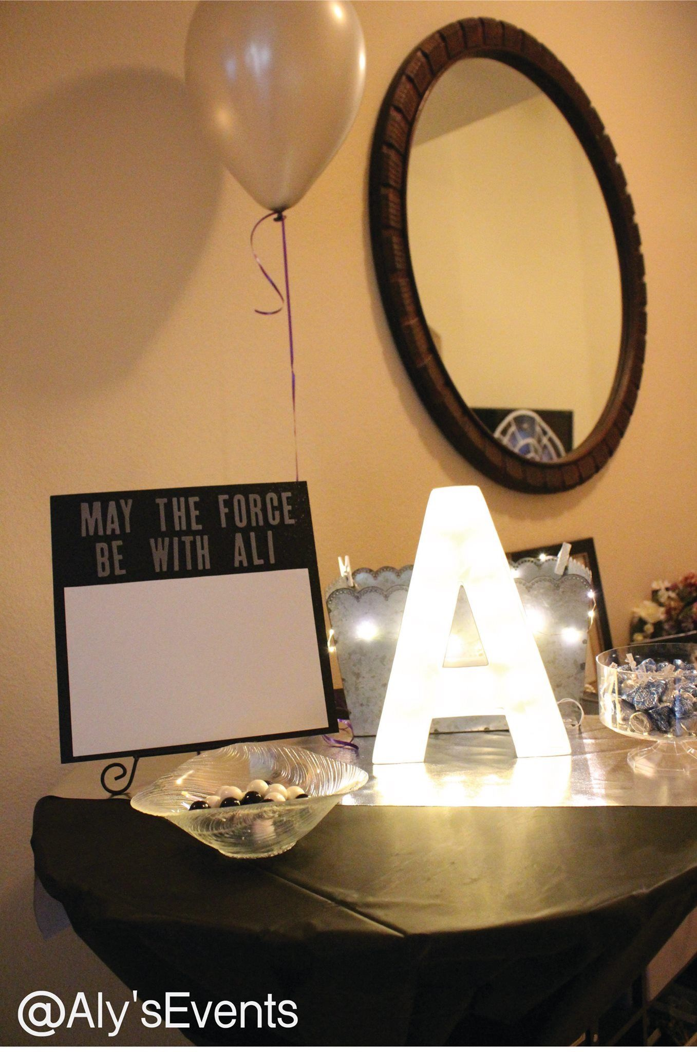Welcome table! Star wars themed.