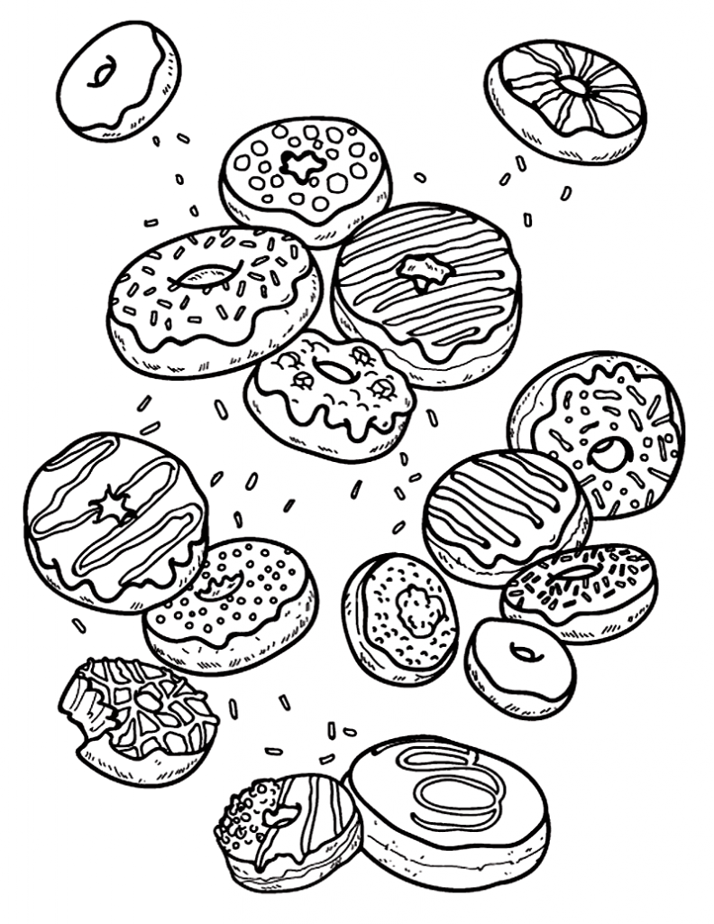 Donut Coloring Pages Coloring Rocks Donut Coloring Page Coloring Pages Food Coloring Pages