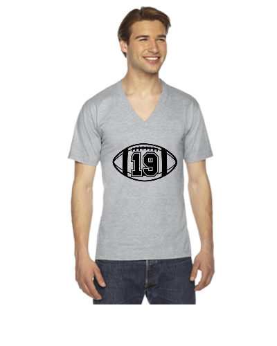 Football ball design - V-Neck T-shirt