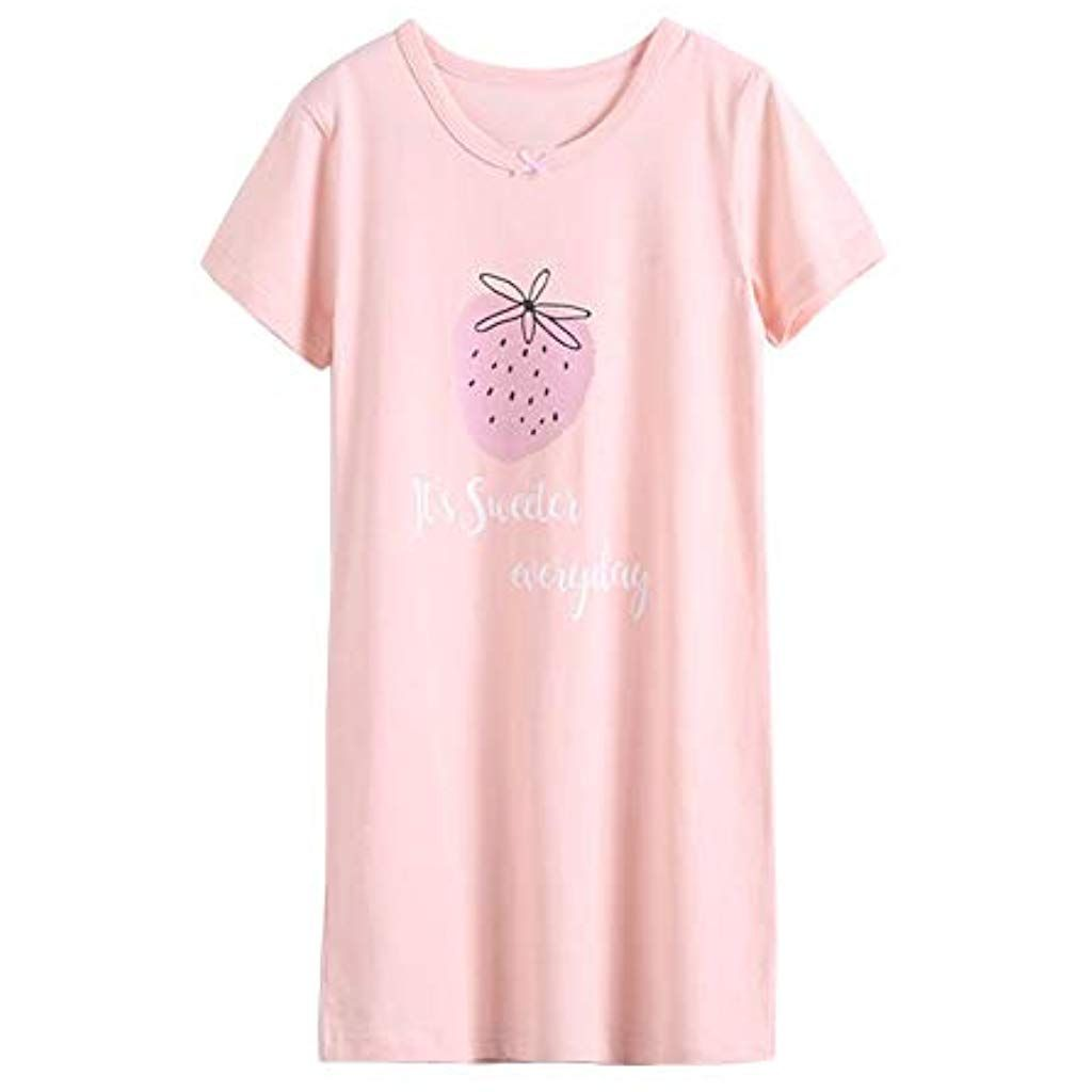 Shengshui Kinder M/ädchen Nachthemden Nachtw/äsche Rundkragen Drucken