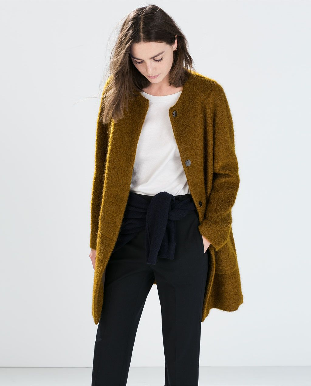 ZARA的图片 2 名称 口袋馬海毛大衣 $4990
