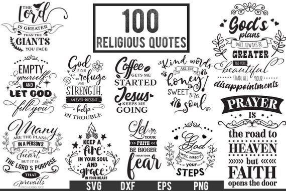 100 Religious Quotes  Cut Files for Cameo Cricut and Curio  | Etsy