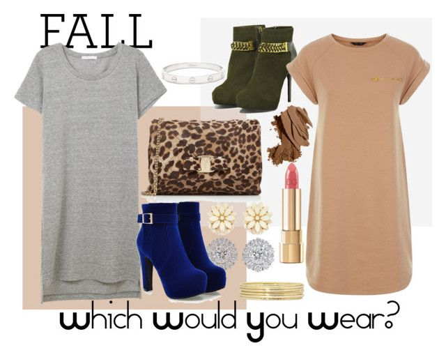 """This Fall- Which Would You Wear?"" by teennetwork ❤ liked on Polyvore featuring CHARLES & KEITH, Cartier, Liz Claiborne, Bobbi Brown Cosmetics, Salvatore Ferragamo, Dolce&Gabbana and Forever 21"
