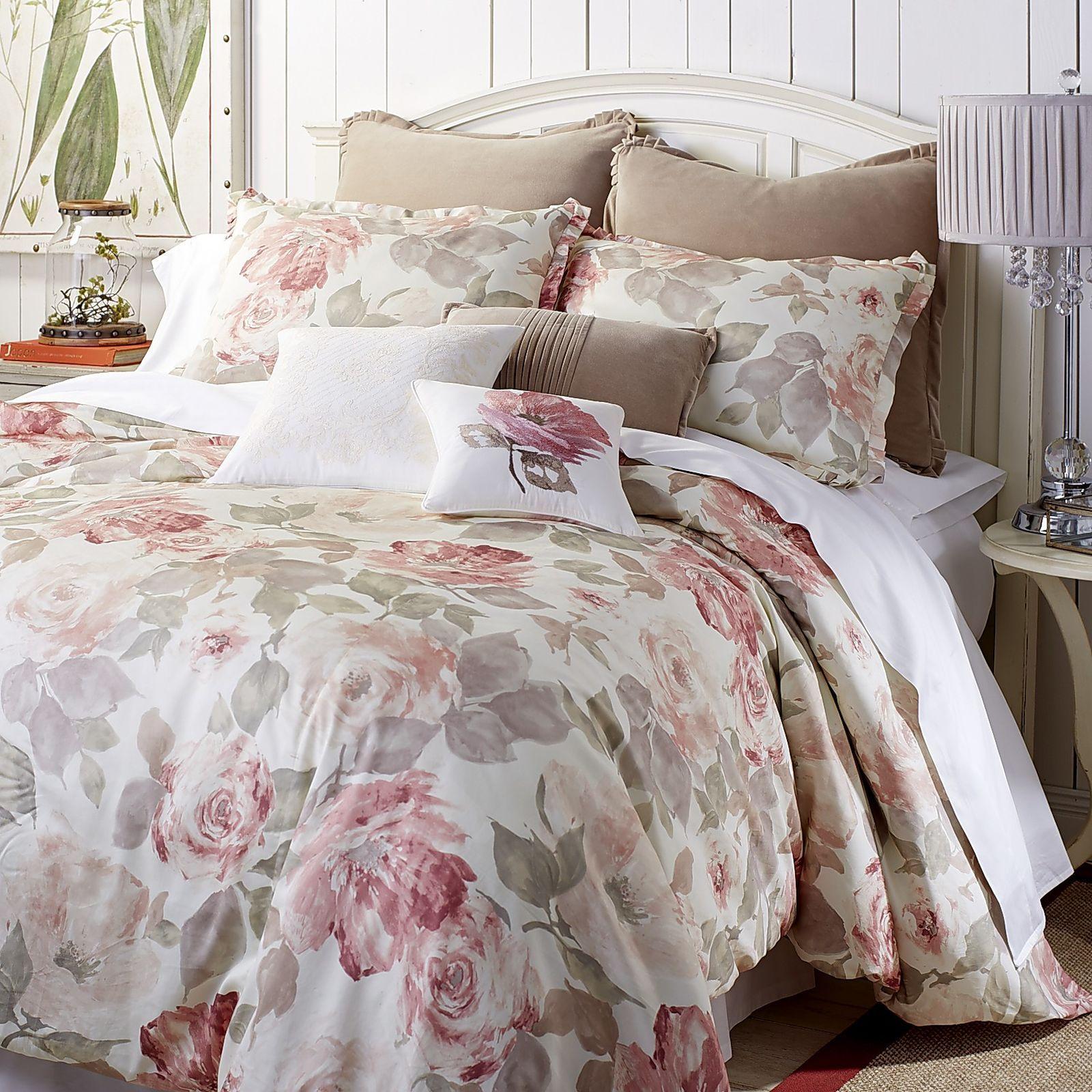 Photo of Vintage Rose Pink Comforter & Sham