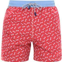 Mc Alson shorts de baño hombre, microfibra, rojo Mc Alson