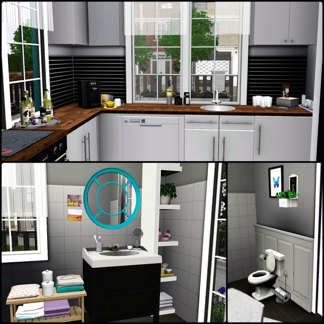 Simberry / Romance Ave. / Sims 3 / Downloads / Kitchen interior ...