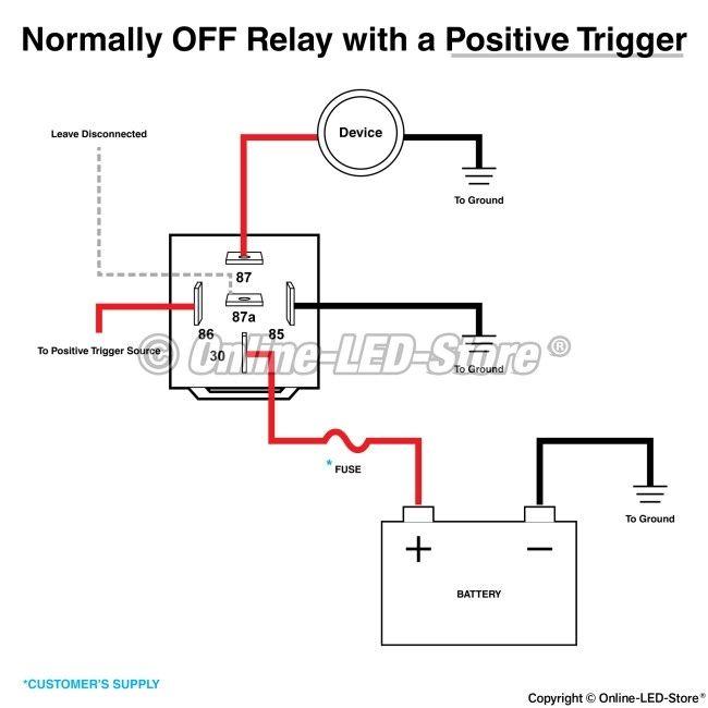 relay diagram 5 pin wiring 5 pin relay wiring diagram