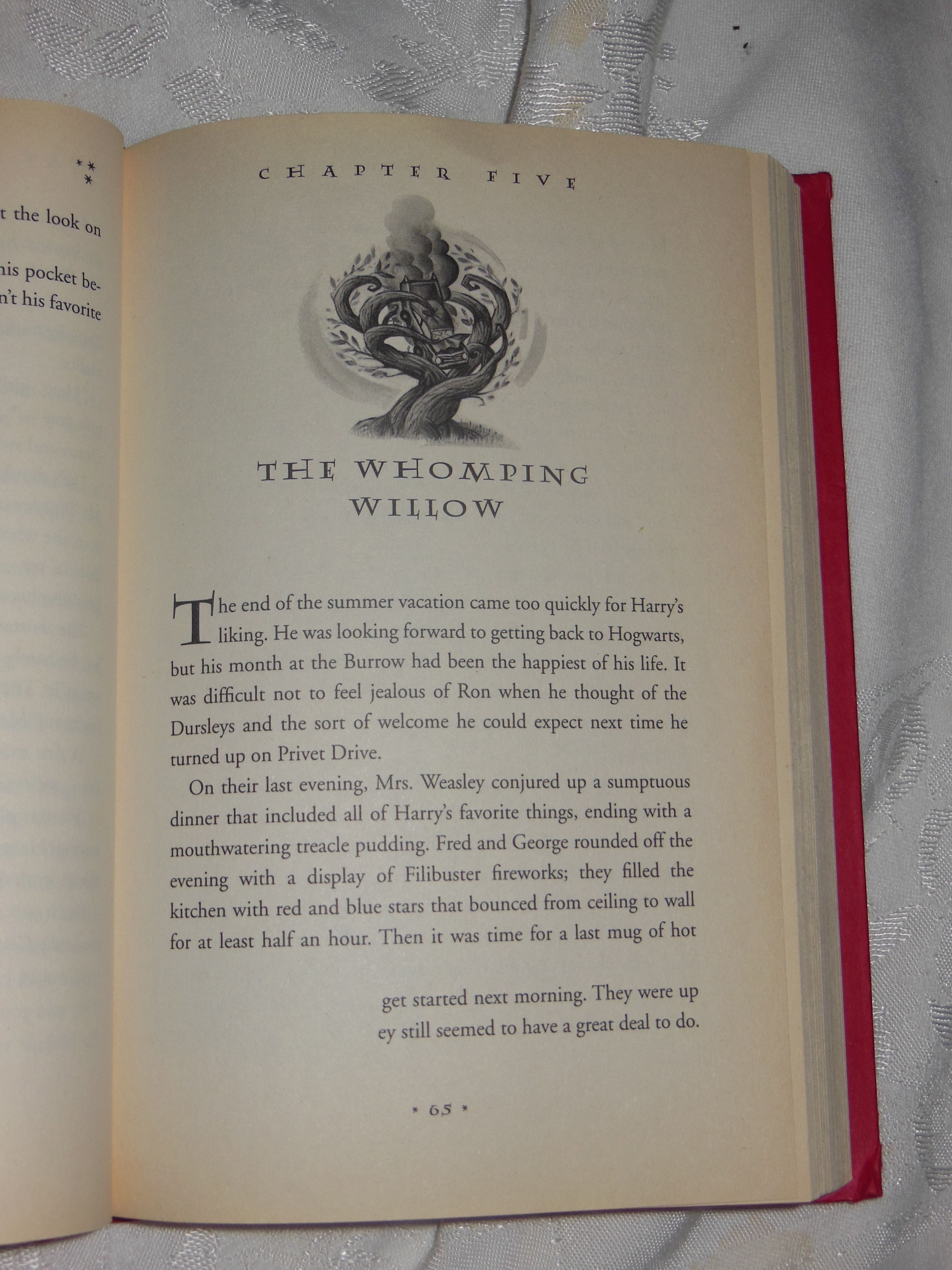 So this is my HP Chamber of Secrets book. As you can see it is missing a few lines. I was wondering if anyone else has this issue. I have had this book for 10+ years.