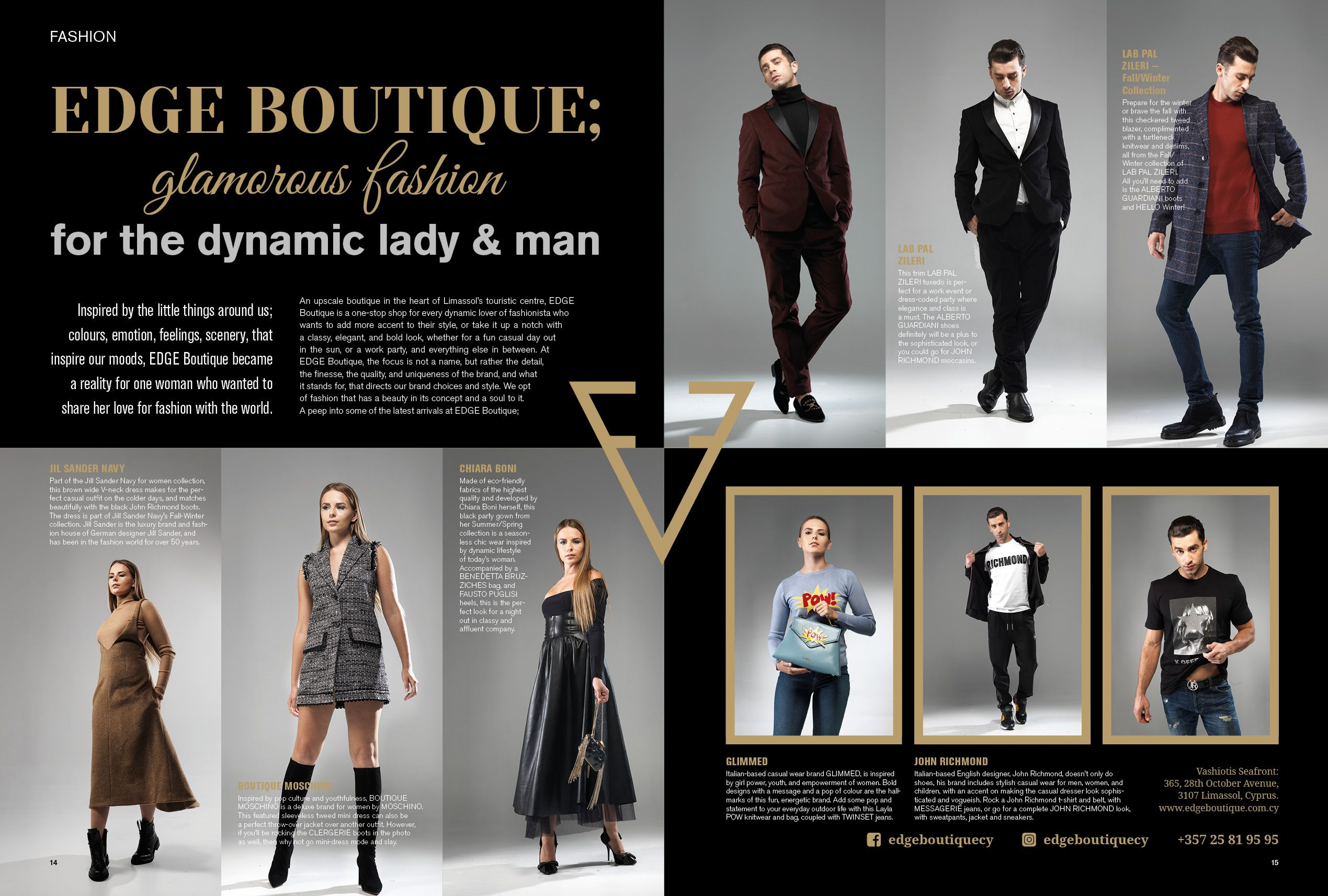 Edge Boutique  glamorous fashion for the dynamic lady  amp  man. Inspired  by the b442e458efbdc