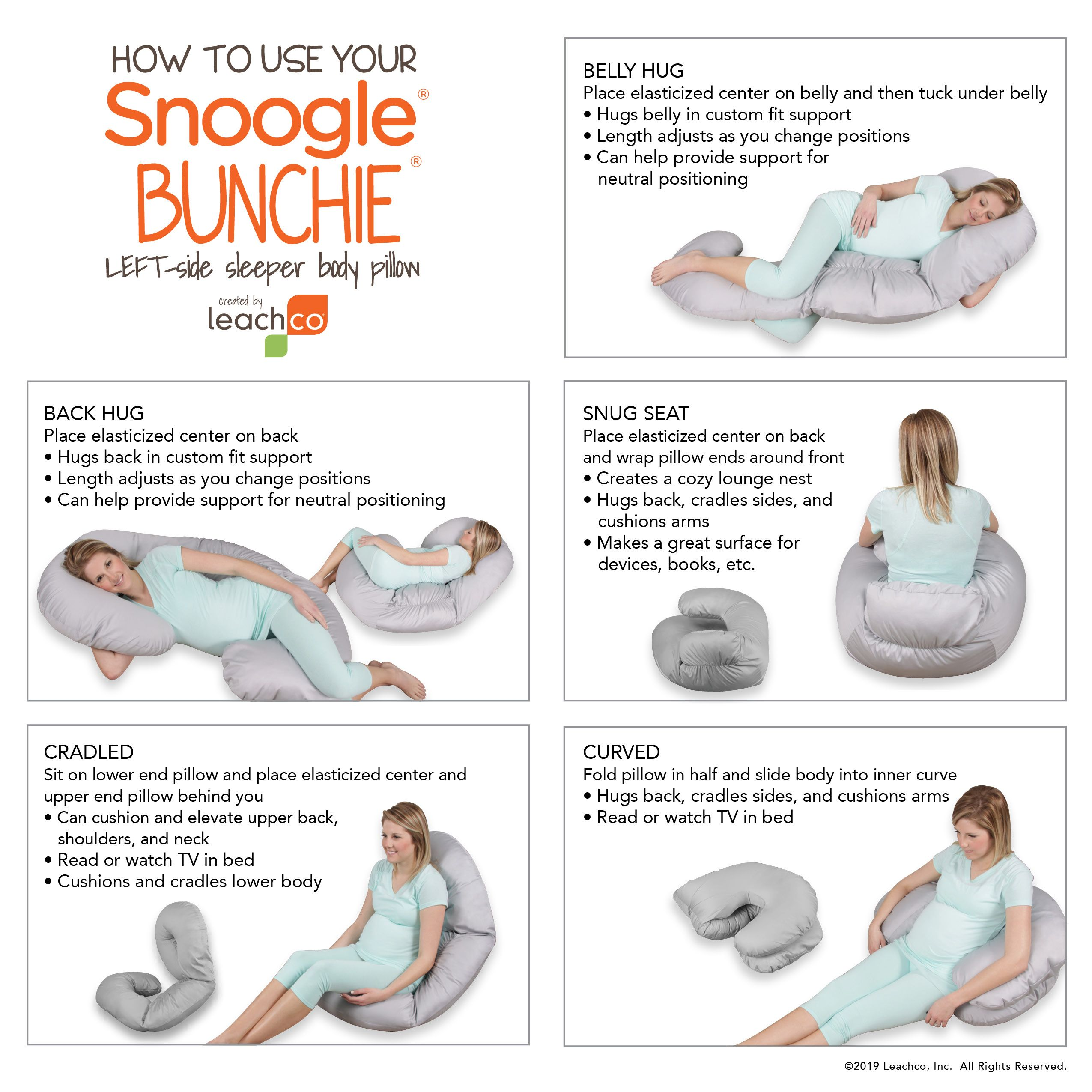 Snoogle Bunchie In 2020 Postpartum Care Kit Snoogle Body Pillow