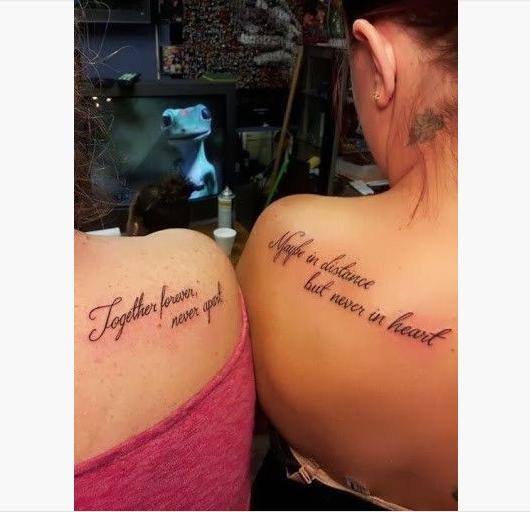 22 Best Friend Tattoo Quotes | Tattoo | Pinterest | Friend tattoos ...