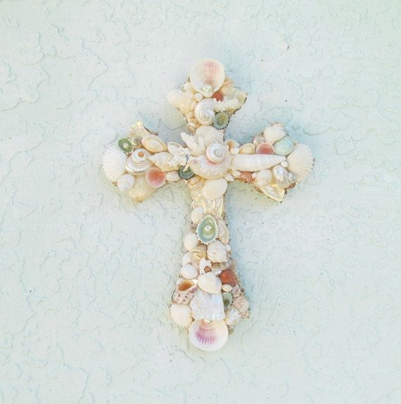 Shell crosscross with shells shell crucifix seashell cross shell crosscross with shells shell crucifix seashell crosspasteleaster religious giftseaster giftseashellsbaby negle Image collections