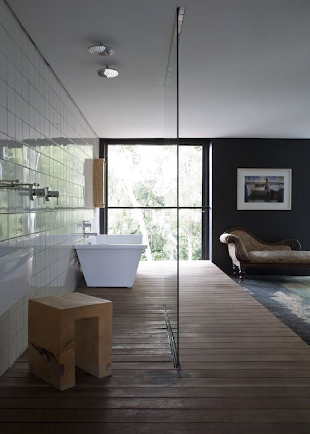 Ensuite To A Master Bedroom Just Hope The Toilet Is Properly Enclosed Not Sure If I Like It But It S Defini Luxury House Designs Open Plan Bathrooms Home