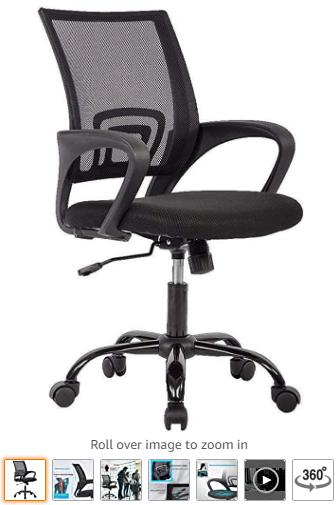 Office Chair Ergonomic Desk Chair Mesh Computer Chair Lumbar