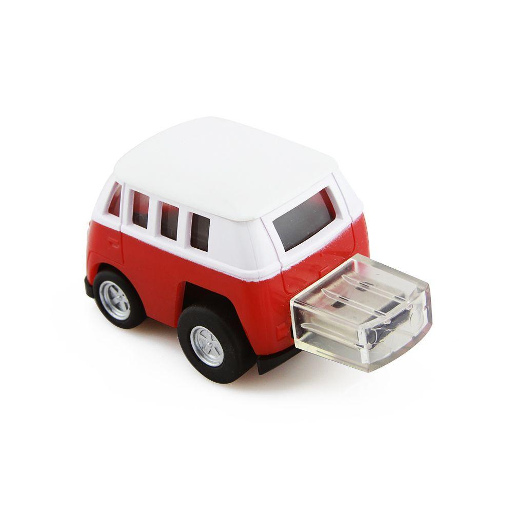 USB 2 0 Flash Drive Pen Drive Mini Cartoon Bus Shape Memory Stick 4