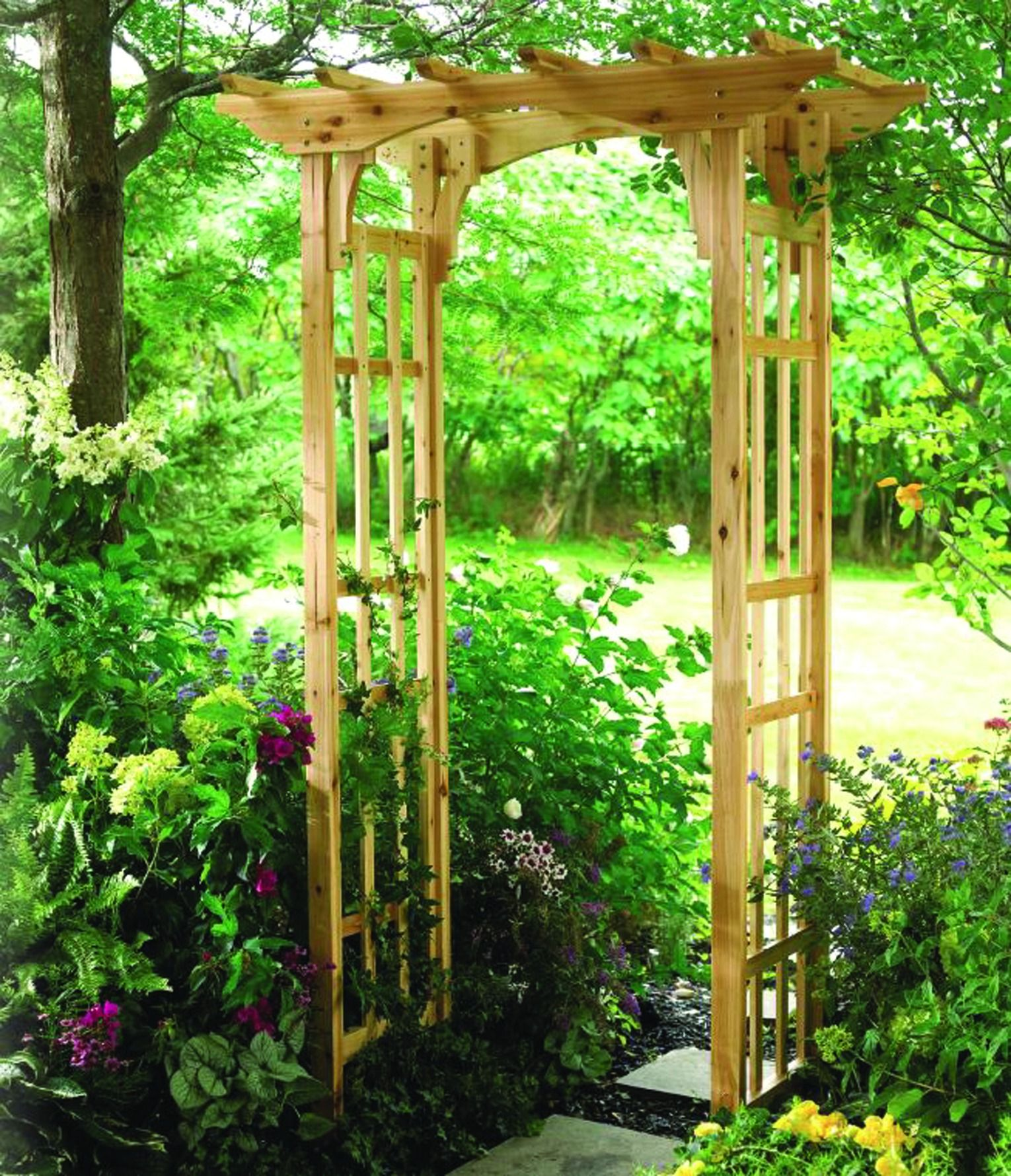 Add Structure And Style To Your Garden With The Ashton Cedar Arbor