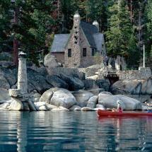 Stone house on the rocks