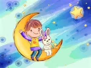 Wallpapers Dibujo Infantil De Ninos Fondo Luna Lunas Infantiles 1024x768