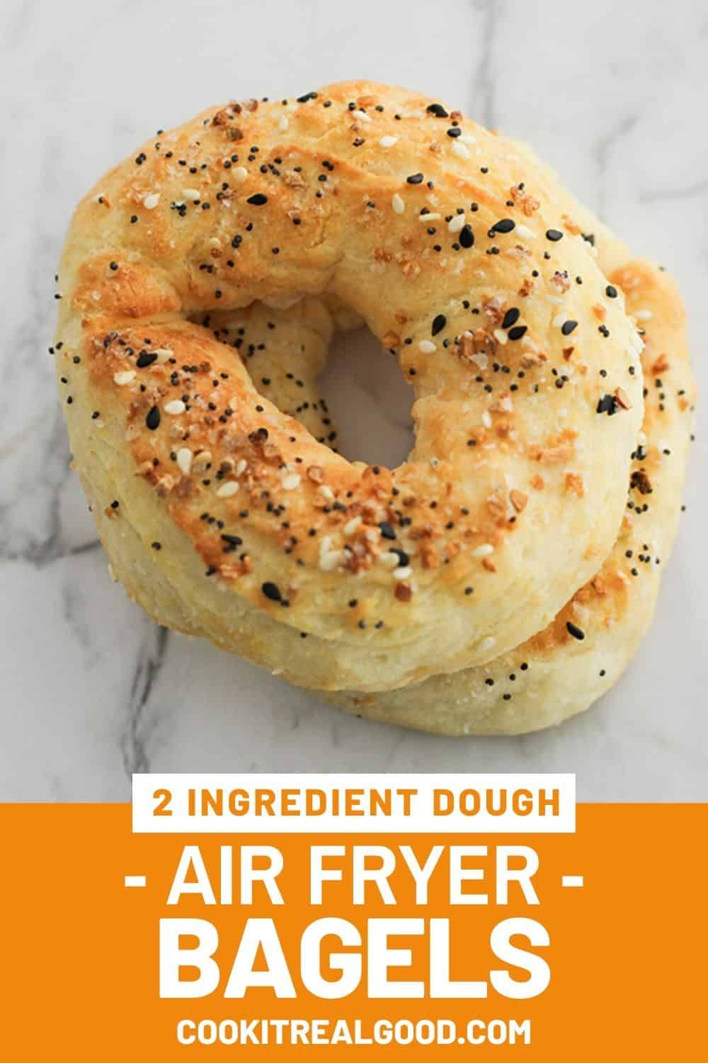 Make delicious air fryer bagels easily at home with two ...