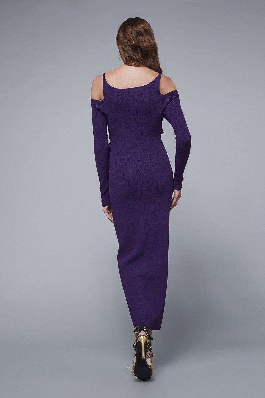 Woven run-stitch midi dress Roberto Cavalli