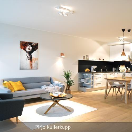 Wohnecke im Scandi-Look - wohnzimmer modern einrichten warme tone