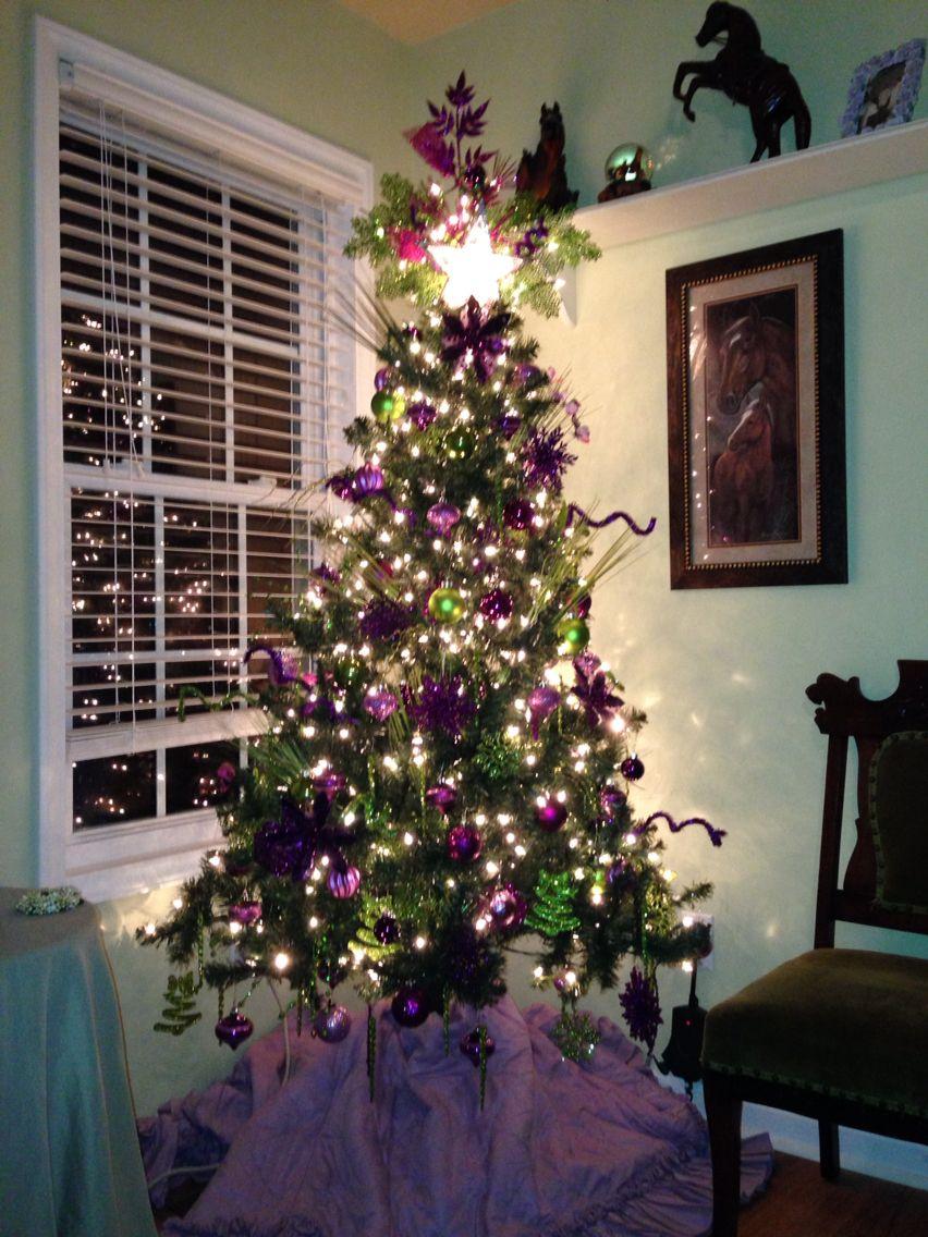 Tree lit holiday decor christmas christmas tree