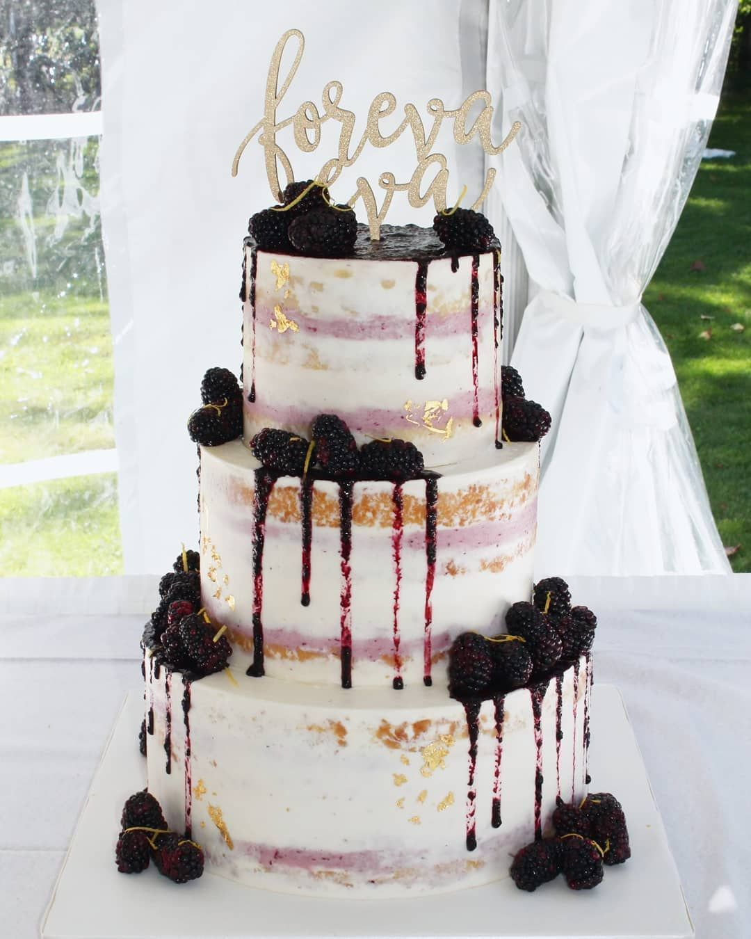 100 Pretty Wedding Cakes To Inspire You Lemon And Blackberry