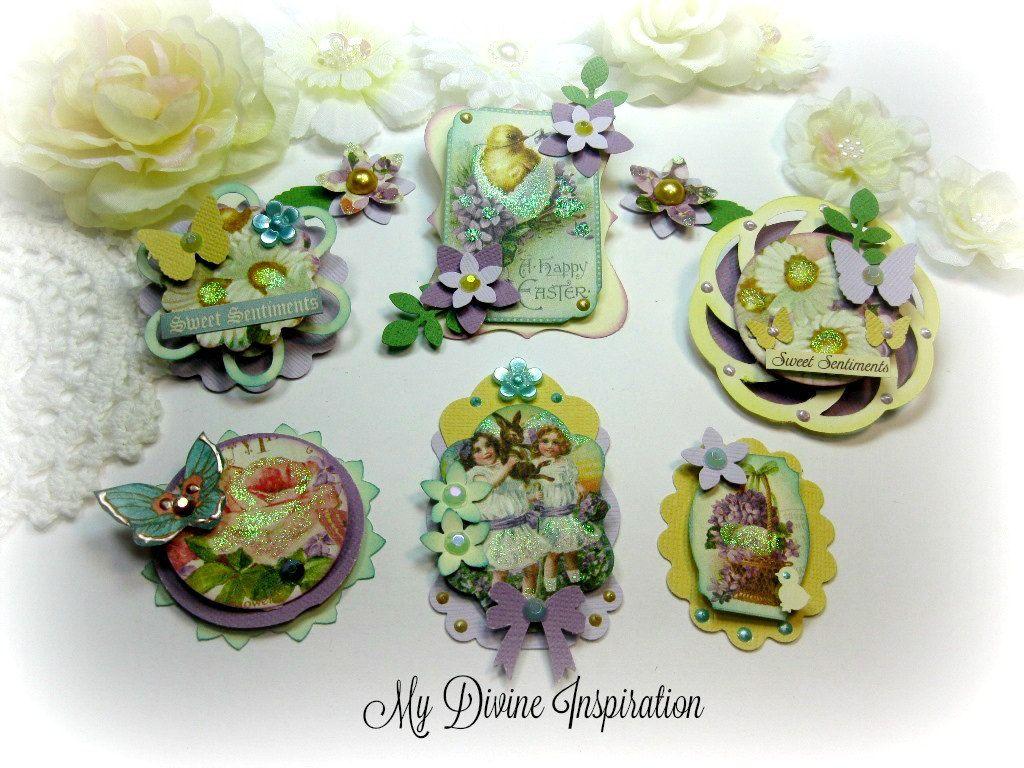 G45 Sweet Sentiments Handmade Scrapbook Paper Embellishments Paper