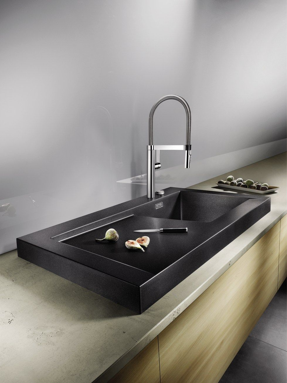 Lovely Countertop Silgranit® Sink With Drainer BLANCO MODEX M 60 By Blanco