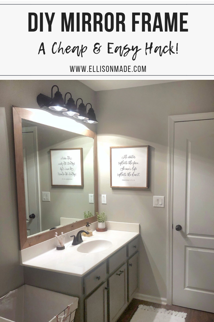 We Recently Finished This Project Where We Added A Dormer To The Home: Bathroom Mirrors Diy, Mirror Frame Diy