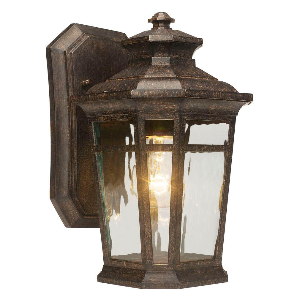 Waterton 1-Light Dark Ridge Bronze Outdoor Wall Lantern | Outdoor ...