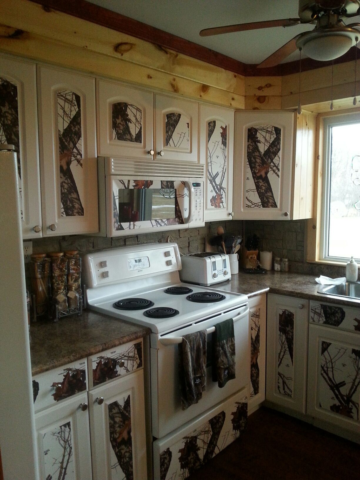 Camo Kitchen Almost Complete Camo Home Decor Rustic Outdoor Kitchens Camo Living Rooms