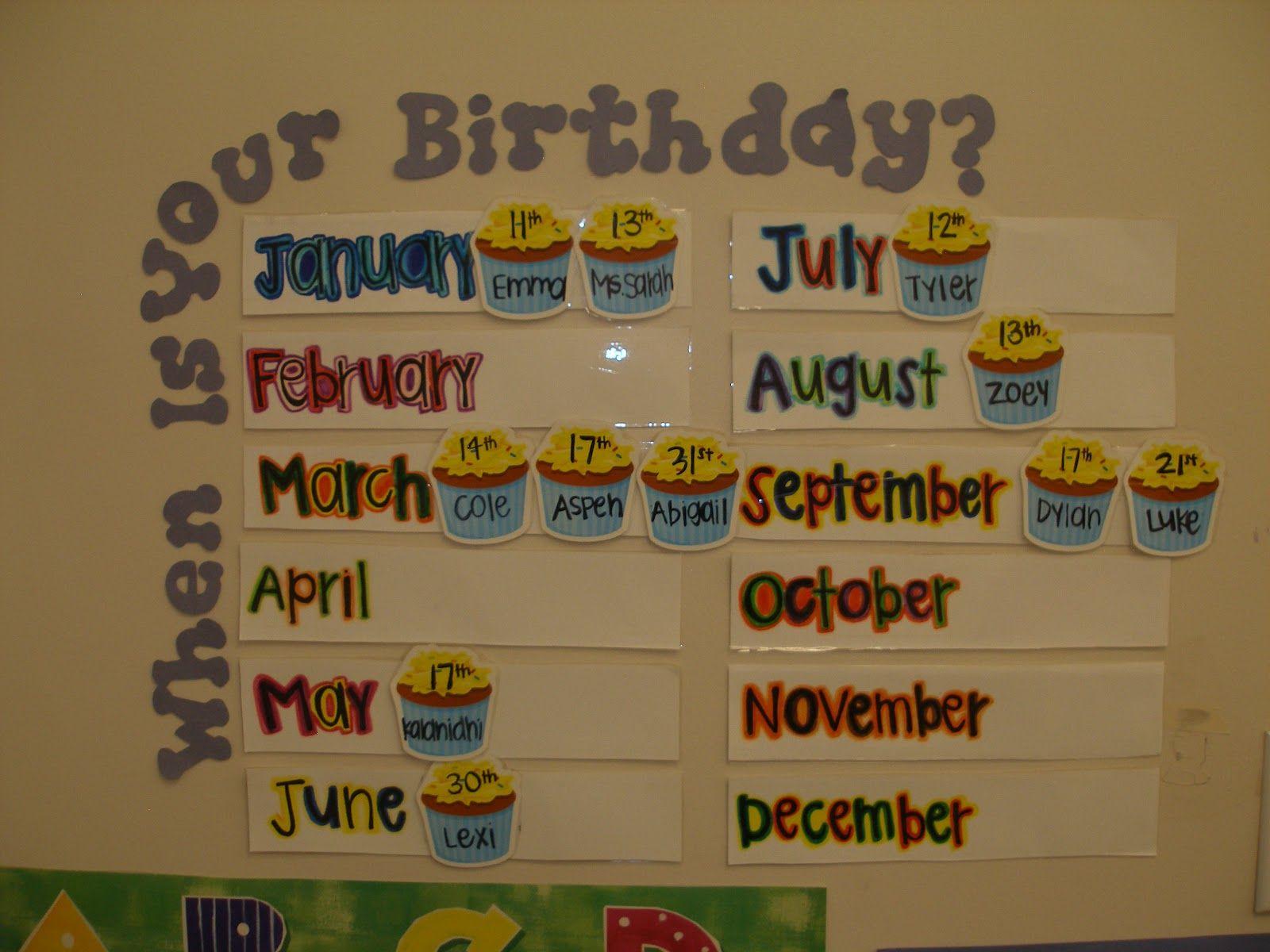 Birthday Calendar Ideas For Classroom : Fichas pósters e ideas para trabajar las fechas de