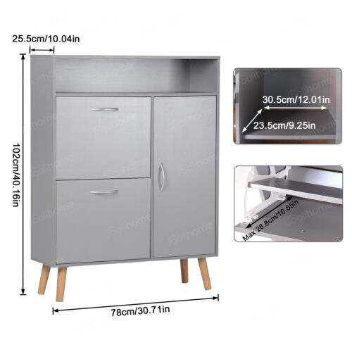 Sideboard Shoes Storage Hall Cupboard Cabinet Rack Unit W Drawer Door Shelf Grey Ebay Shoe Storage Hall Storage Hall