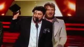 Mumford & Sons wins category ALBUM OF THE YEAR, music Babel. Grammy Awards 2013 [HD], via YouTube.  (acceptance speech)