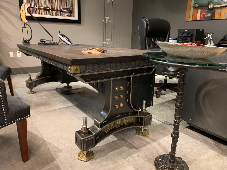 Vintage Industrial Office Desks Bespoke Uk Industrial Office Desk Office Desk Industrial Office