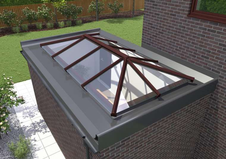 Coloured Standard 1000mm X 3000mm Active Blue Self Cleaning Glass With Images Flat Roof Skylights Roof Lantern Roof Skylight