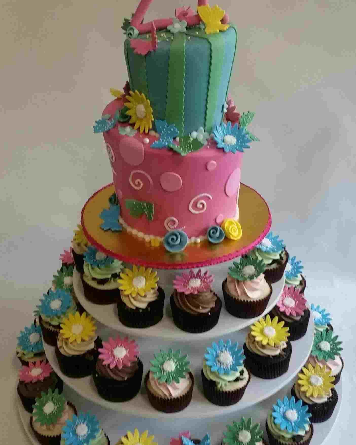 Birthday cake square for kids dengan gambar