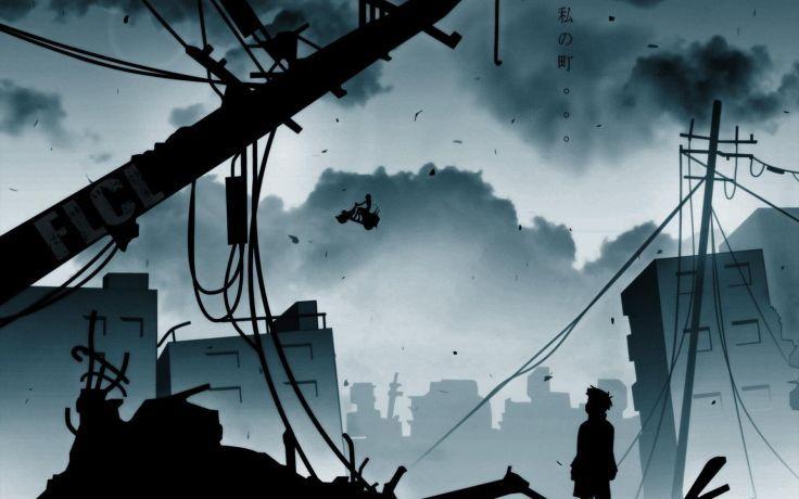 Serial Experiments Lain anime series cyberpunk horror sci-fi drama ...