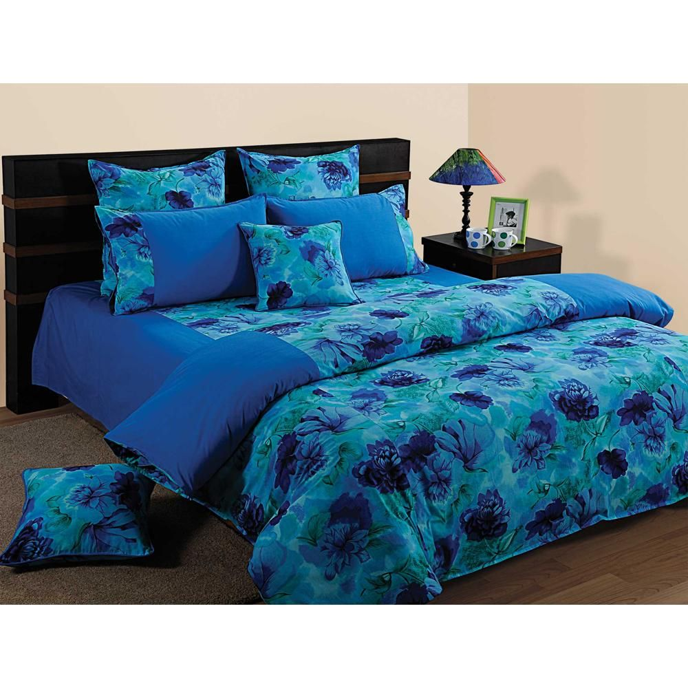 Blue roxy bedding - Elements Oceanic Hues Double Bed Sheet Set