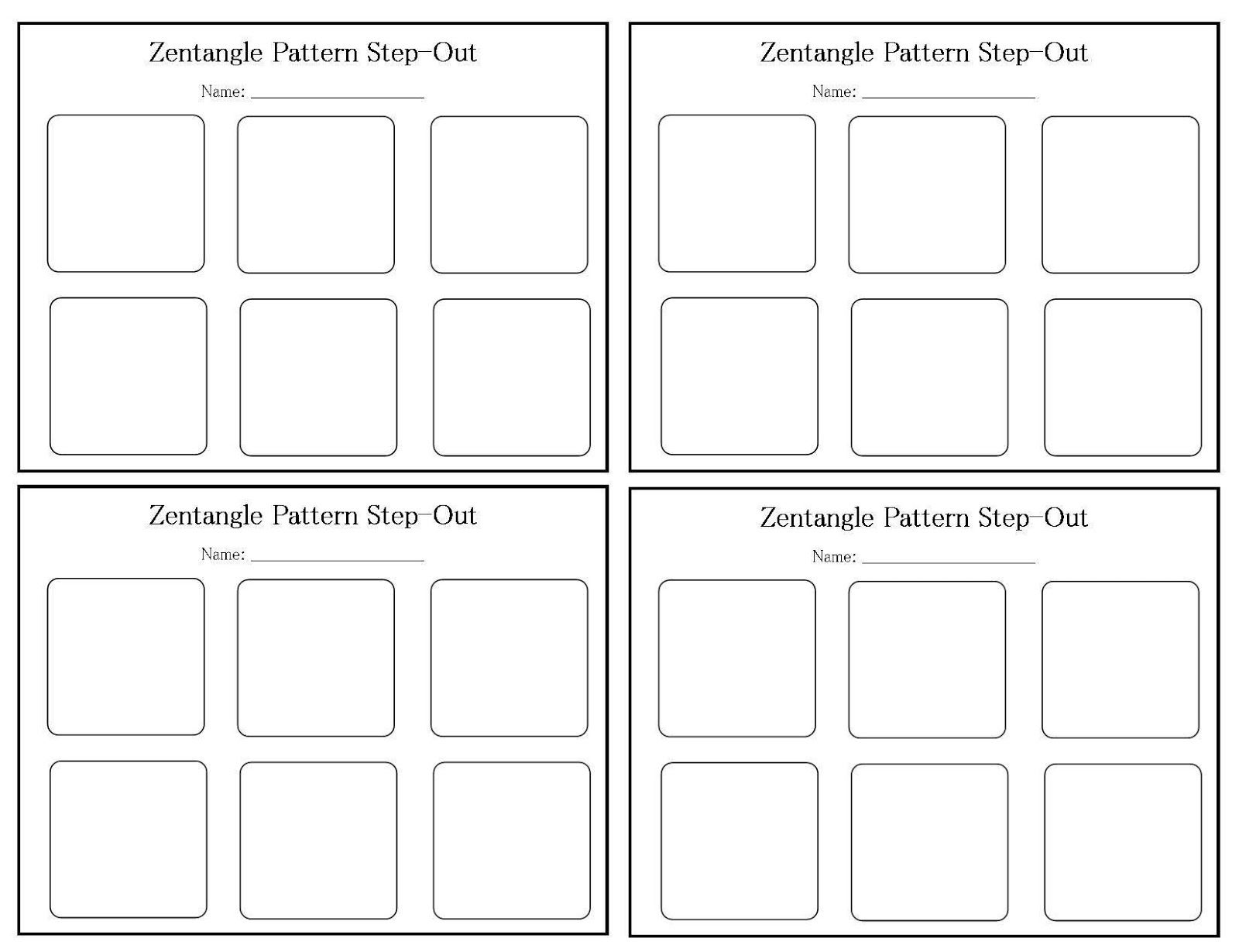 zentangle patterns for beginners my blank step out template for zentangle patterns. Black Bedroom Furniture Sets. Home Design Ideas