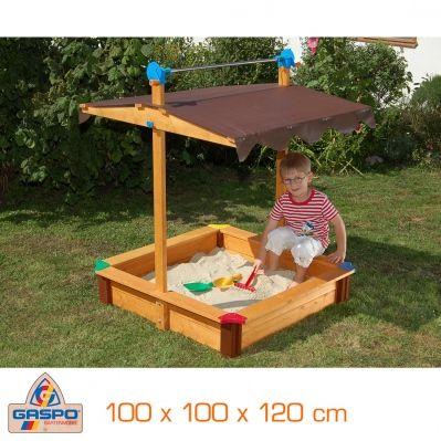 bac sable enfant avec toit rabattable bac sable. Black Bedroom Furniture Sets. Home Design Ideas