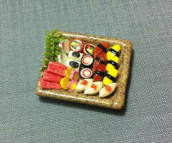 Japanese Sushi Set Miniature Clay Polymer Food Supplies