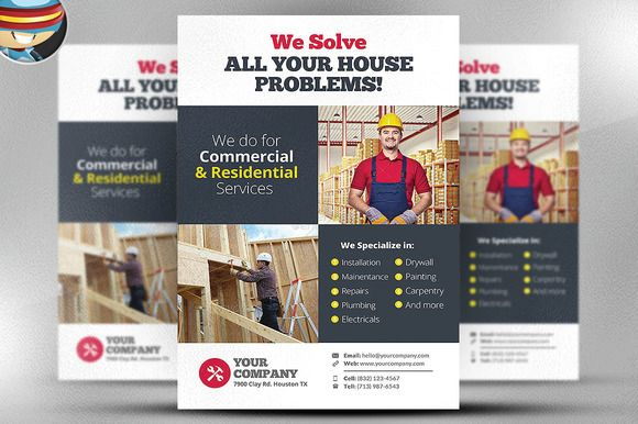 Handyman Flyer Template v3 @creativework247 Flyer Templates - handyman flyer template