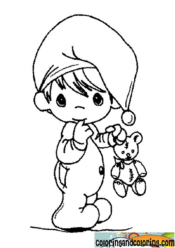 baby precious moments coloring pages baby boy for nursery walls ...