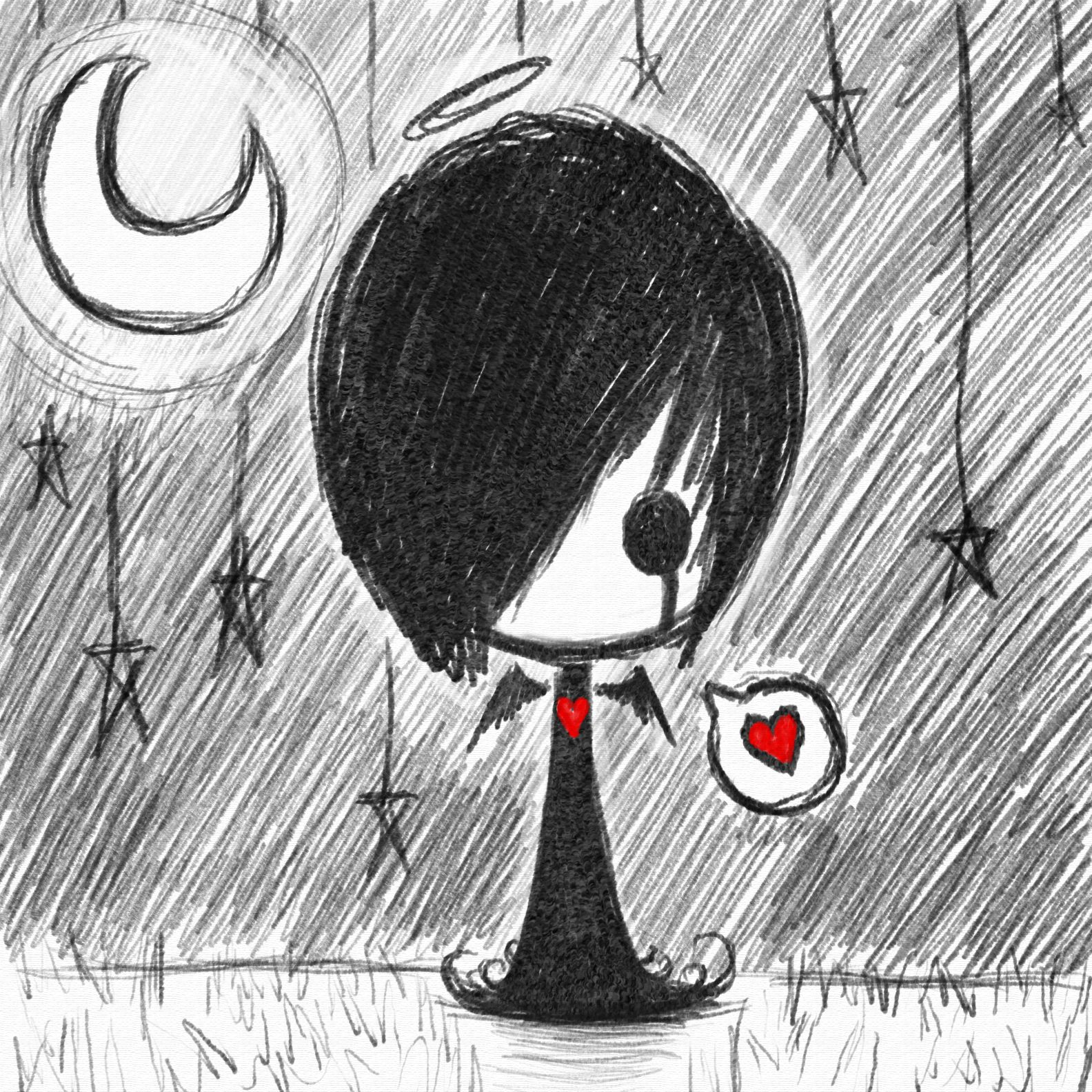 Cute Drawing Ideas: Search@MangoBite - Image - Cute Emo