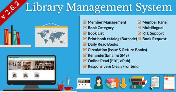 Library Management System In Php With Source Code Management Book Lists Book Categories